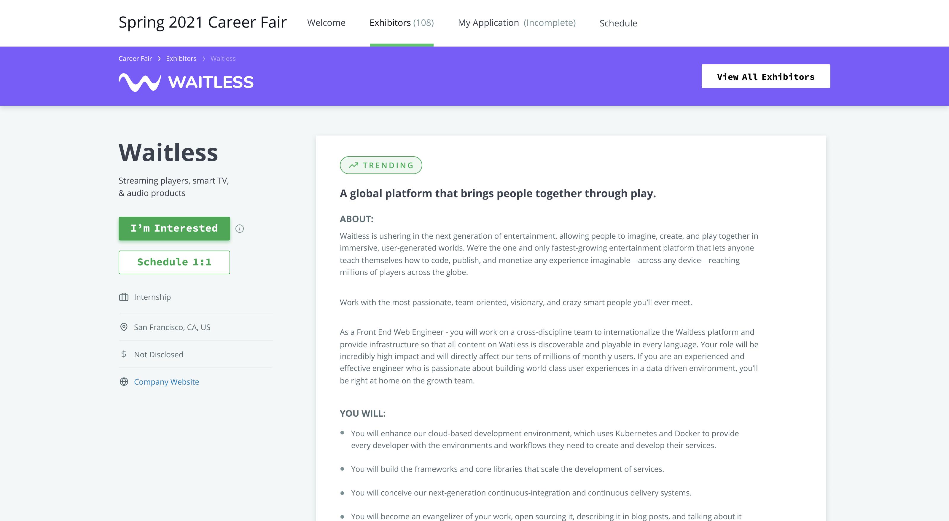 HackerRank Virtual Career Fair