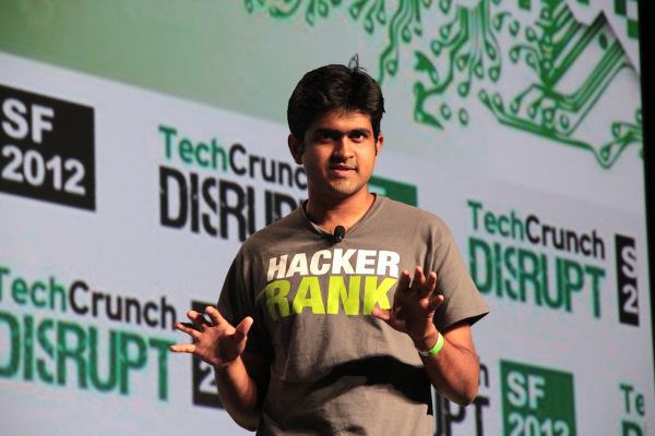 Vivek onstage at TechCrunch Disrupt
