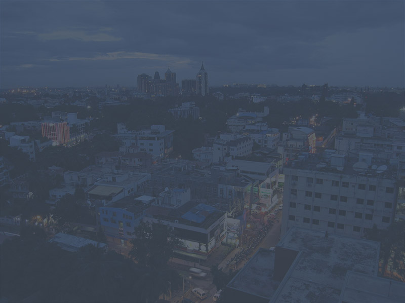 View of Bangalore city with dark overlay