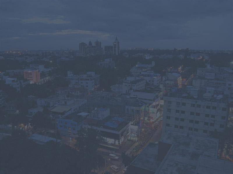 View of Bangalore city with dark overlay
