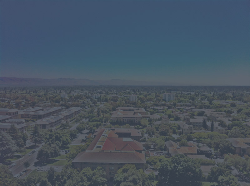 View of Palo Alto with dark overlay